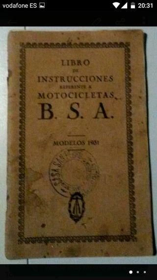 Manual taller BSA de 1931 en Castellano comoleto