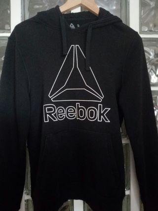 Reebok sudadera negra con capucha talla s hombre