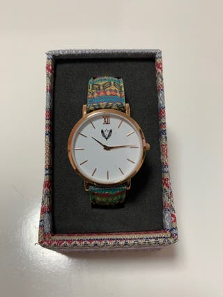 Reloj etnico oro rosa fondo blanco Ethnic Watches
