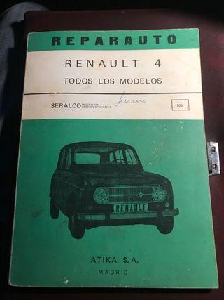 Manual de reparación de Renault 4 original