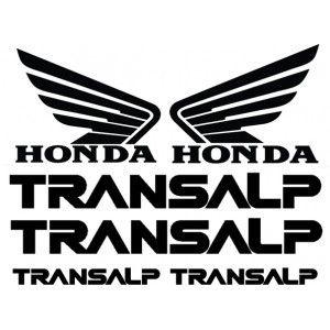 adesivo transalp para moto casco cupula horquilla