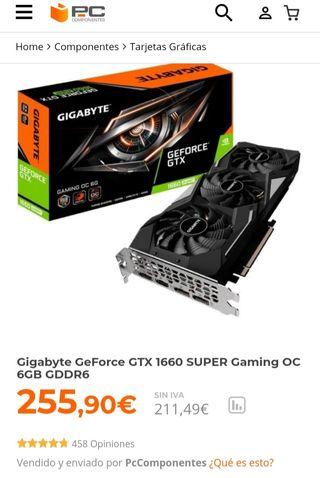 GTX 1660 Súper gaming oc 6g GDDR6