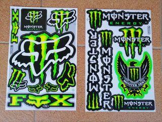 Láminas de Pegatinas Monster Verdes
