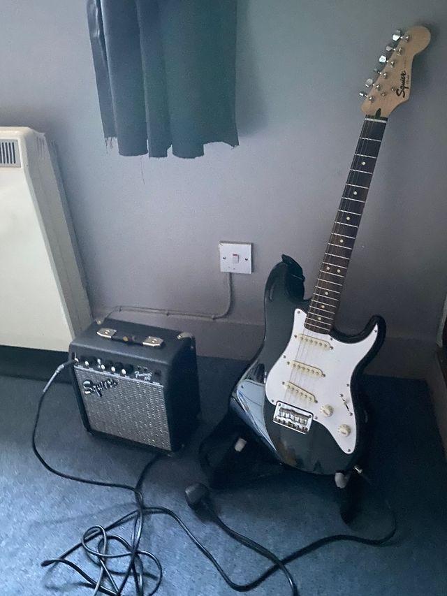 Squire fender guitar