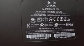 Router CISCO Meraki MX64W