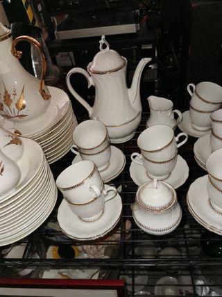 juego de café porcelana muy fina winterling