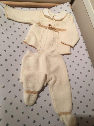 3x2! Conjunto bebé (polaina+jersey) 3-6 meses