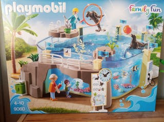 acuario de Playmobil, con caja e instrucciones