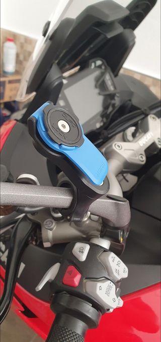 Soporte Movil moto Quad lock + Funda