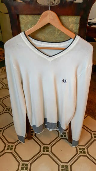 Jersey blanco Fred Perry