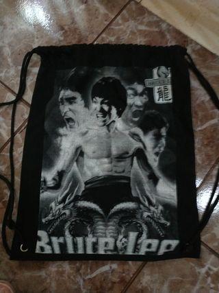 mochila de tela de Bruce Lee