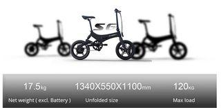 Bicicleta Plegable Eléctrica Onebot S6. Nueva