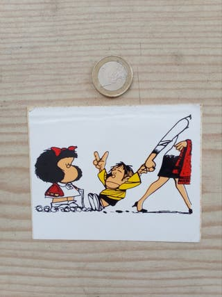 Pegatina Adhesivo Mafalda Y Guille
