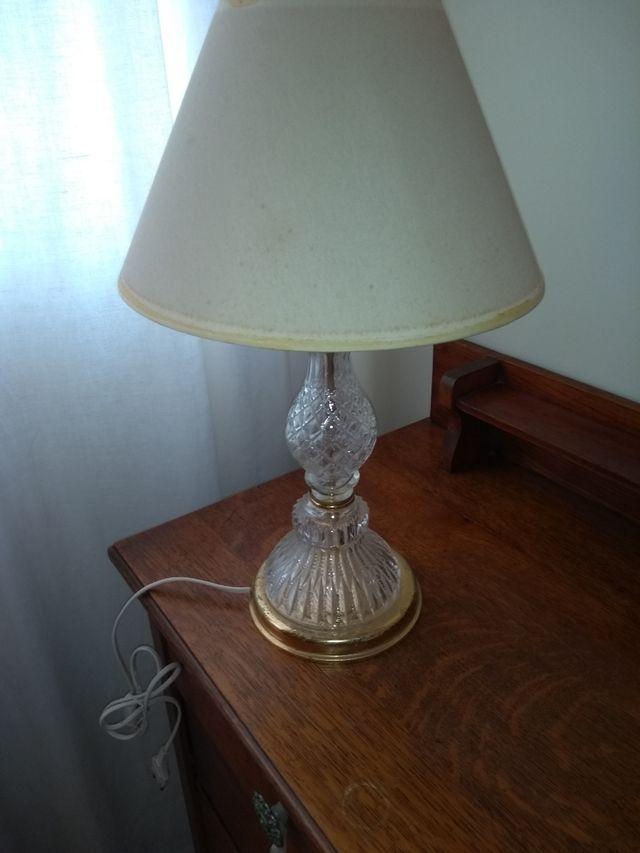 lampara mesita vintage