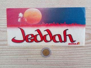 Pegatina Adhesivo Iberia Jeddah