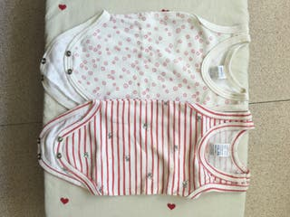 2 bodies para bebé, talla 57, 0-6 meses