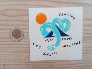 3 Pegatinas Adhesivos Camping Los Molinos