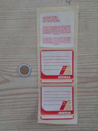 3 Pegatinas Adhesivos Iberia