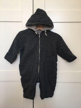 Mono bebé con capucha de invierno, talla 74, 6-9