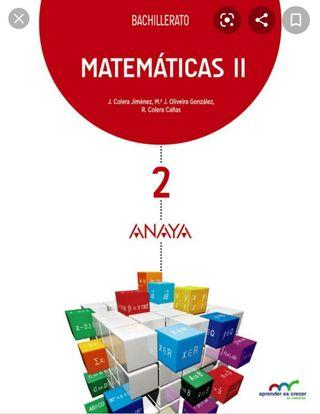 libro de matemáticas 2º de bachillerato