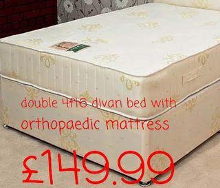 double 4ft6 divan orthopaedic bed
