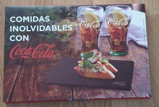 2 bandejas de pizarra coca cola + regalo