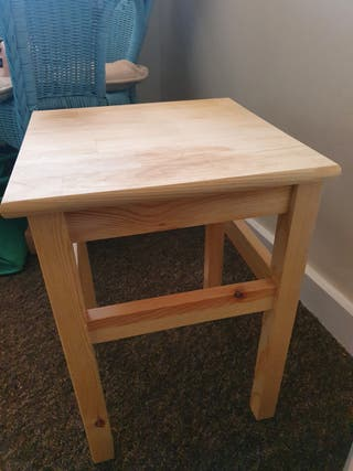 Small pine wood table