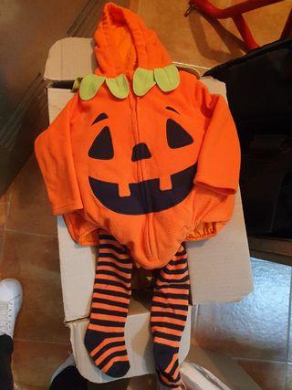 disfraz Halloween calabaza 9/12 meses