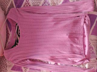 Jersey de entretiempo color rosa
