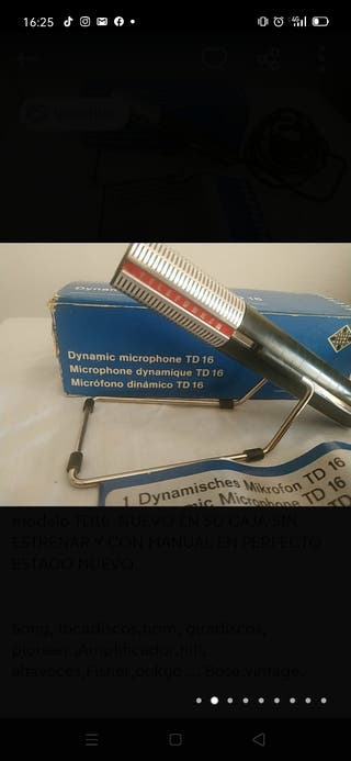 Micrófono antiguo Telefunken TD16 dinámico