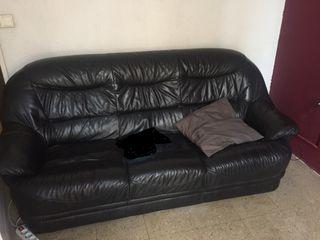 Sofá negra piel