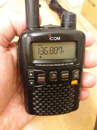 ICOM IC R-5 Receptor de Comunicaciones Scanner