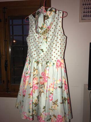 Vestido lunares/flores