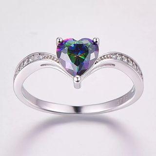 Rainbow Fire Mystic Topaz 925S.S Ring Hear