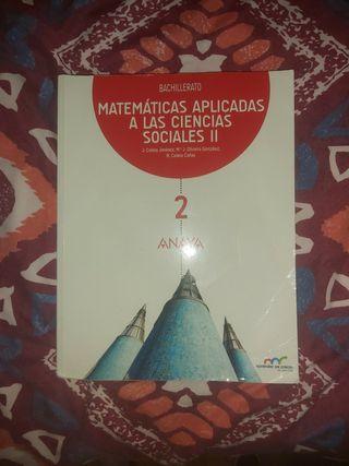 Libro de Matemáticas. 2°bachillerato