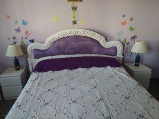 Cabecero de madera cama matrimonio