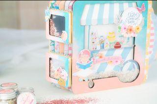 Kit Scrapbooking Carrito Candy Bar Johanna Rivero