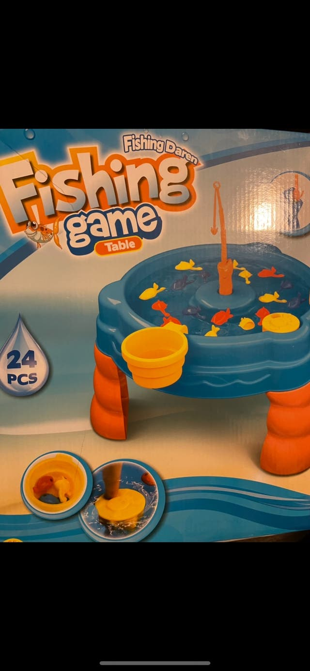 Juego infantil pescar peces
