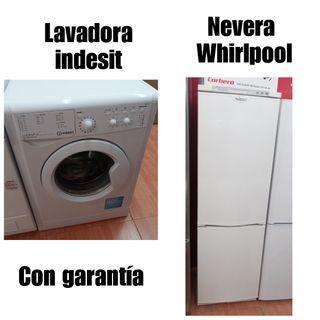 Lavadora Indesit + Nevera Whirlpool