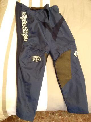 Pantalones motocross enduro azul oscuro