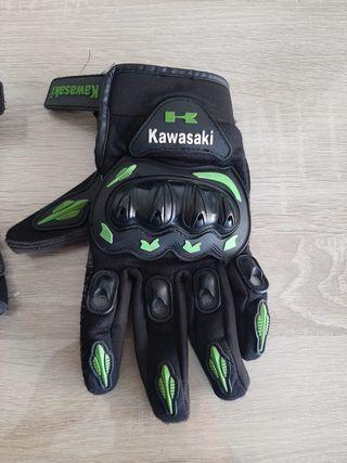 Guantes moto verano kawasaki