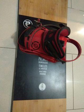 tabla snowboard freeride palmer + fijaciones