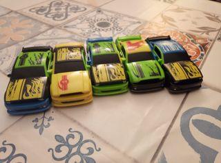 5 coches Fast Crash