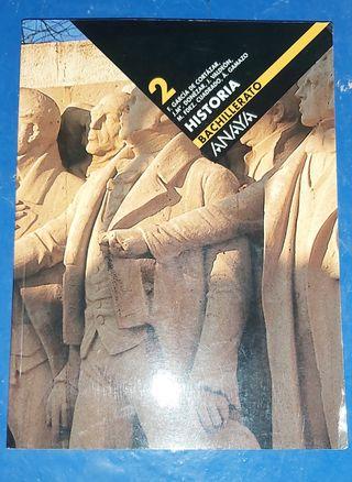 libro Historia Anaya 2° Bachillerato