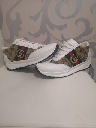 zapatillas Gucci de imitación sin estrenar número