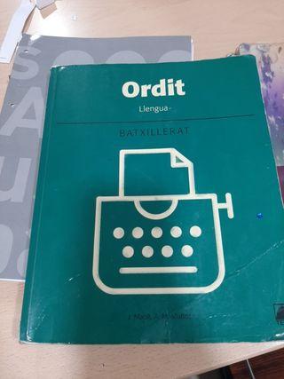 ordit, libro catalán 1 bat/ llibre catala 1o2 bat