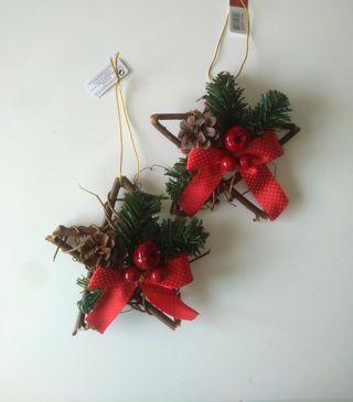 2 Estrellas Rattán Navidad NUEVAS