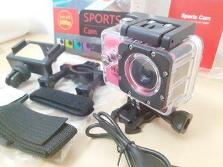 Cámara deportiva sumergible Full HD 1080p