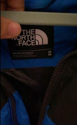 Mens blue north face coat