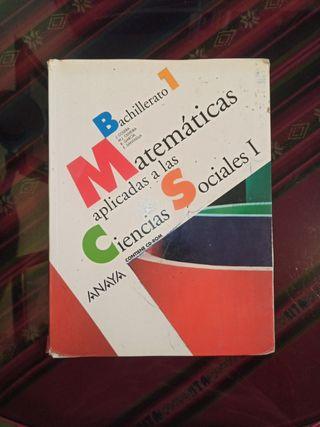 Libro Matemáticas Ciencias Sociales Bachillerato